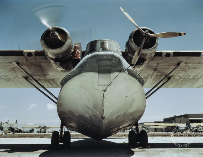 Plane at the Naval Air Base, Corpus Christi, Texas